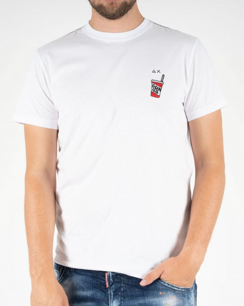 Teeshirt SUN68 T40120 01 WHITE