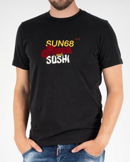 Teeshirt SUN68 T40123 11 BLACK