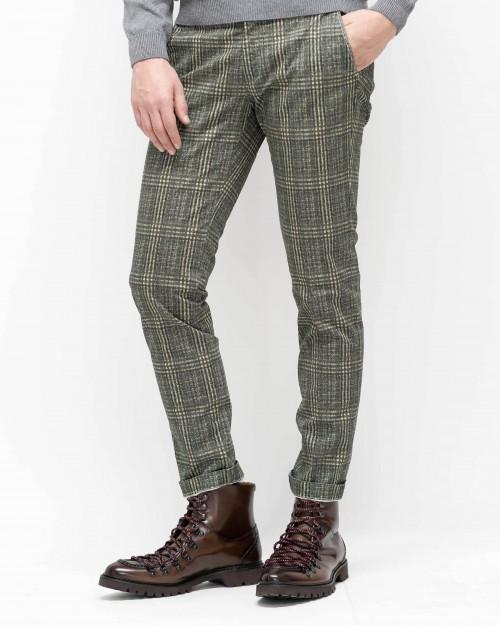 Pantalon quadres khaki...