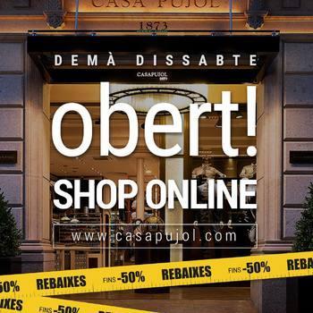 "Demà dissabte  OBERT! SHOP ON LINE ""KEEP SAFE"" www.casapujol.com . . . #demaonline #comerçsegur😷 #safetyfirst #rebajasinvierno #hasta50off #derebaixesonline #onsales  #bestbrandsshop #nuevoproyecto #ecommercebusiness #casapujolshoponline #yadisponible #aviatmésimillor #devolucionsincosto #bestbrandsshop #outlet #50percentoff#casapujolreus"